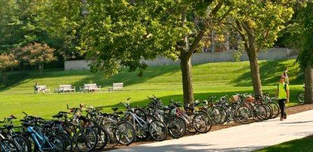 The bikes are back on campus for the new fall semester!